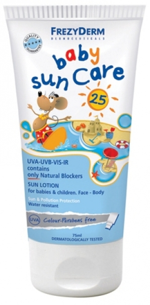 FREZYDERM SUNSCREEN ΒΑΒΥ SUN CARE SPF25 75ML
