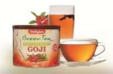 DELIGIOS-GREEN TEA PLUS GOJI BERRY 230GR