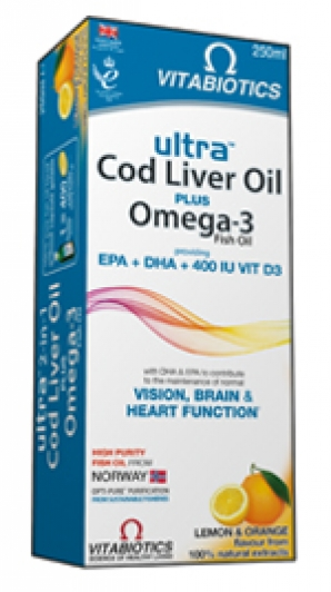 VITABIOTICS  Ultra 2 in 1 Cod Liver Oil 250ML
