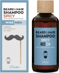 VICAN WISE MEN BEARD&HAIR SHAMPOO SPICY 200ML
